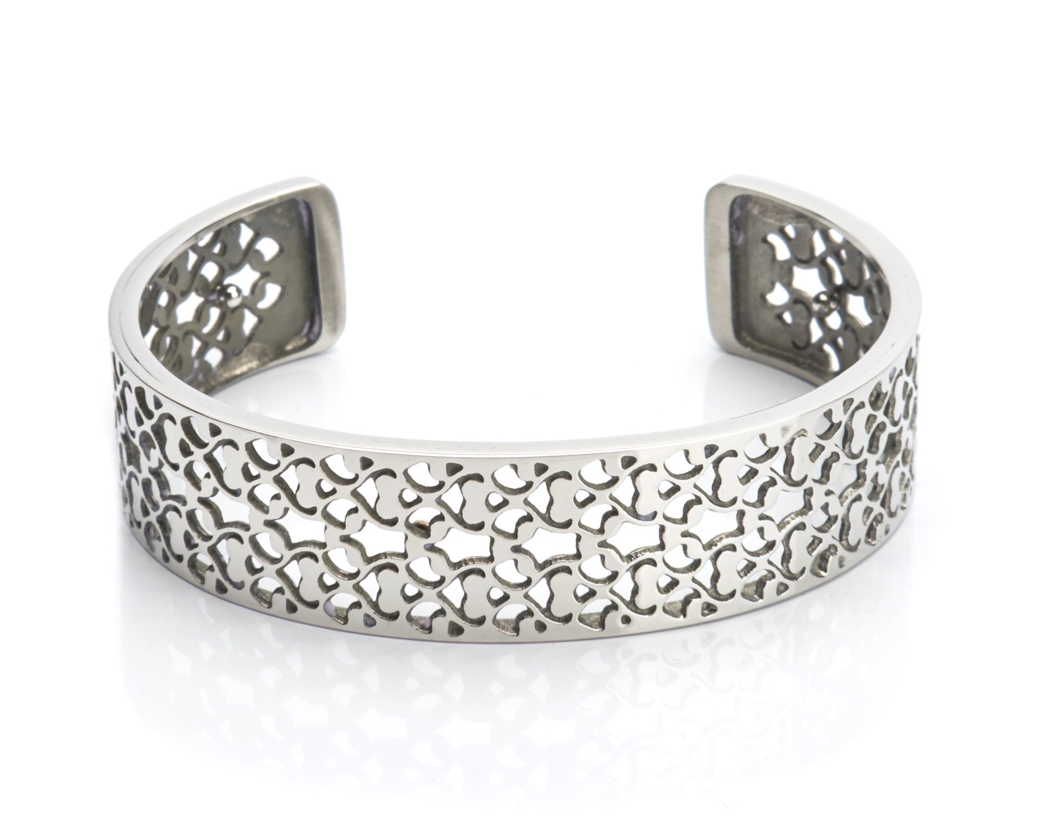 Bangle Stainless Steel - Filigree 15mm