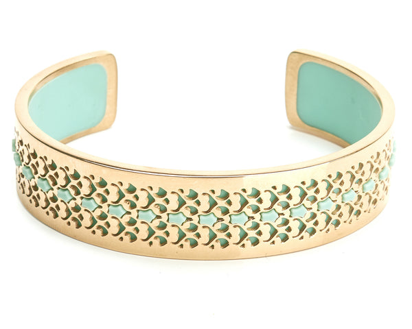 Bangle Gold 14K - Filigree 15mm