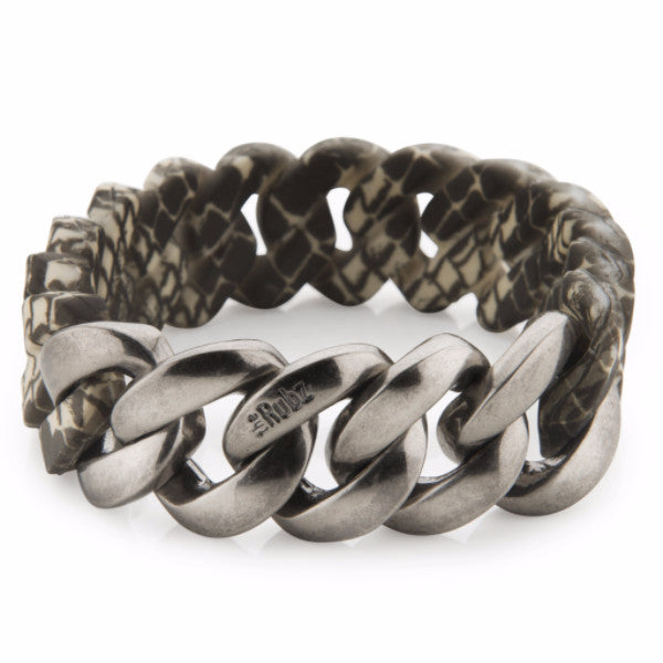 Mens Classic20mm - Snake & Antique Silver, The Rubz