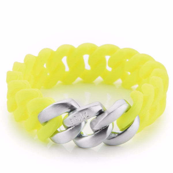 ClassicMINI- Neon Yellow & Brushed Silver, The Rubz
