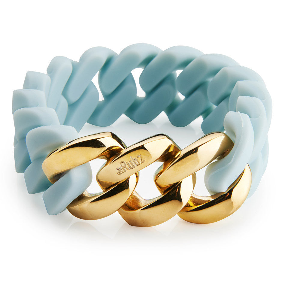 Classic20mm - Baby blue & Gold, The Rubz