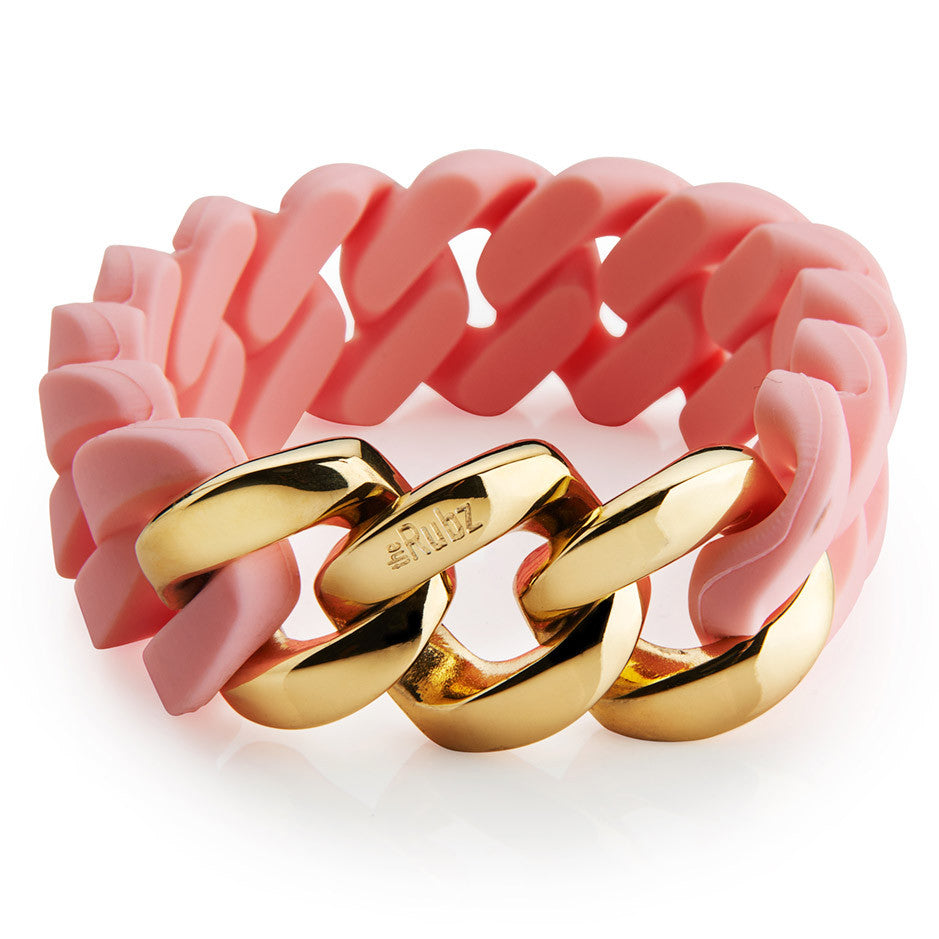 Classic20mm - Baby pink & Gold, The Rubz
