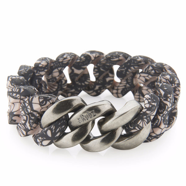 Classic20mm - Lace Print & Antique Silver, The Rubz