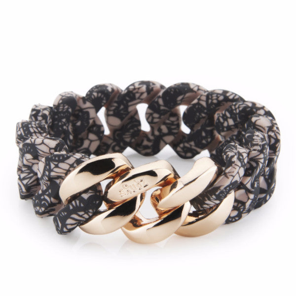 Classic20mm - Lace Print & Rose Gold, The Rubz