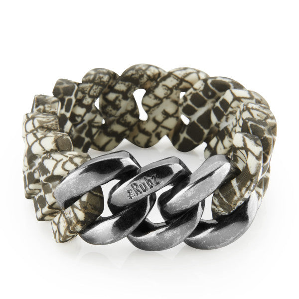 Classic20mm - Snake Print & Antique Silver, The Rubz - 1