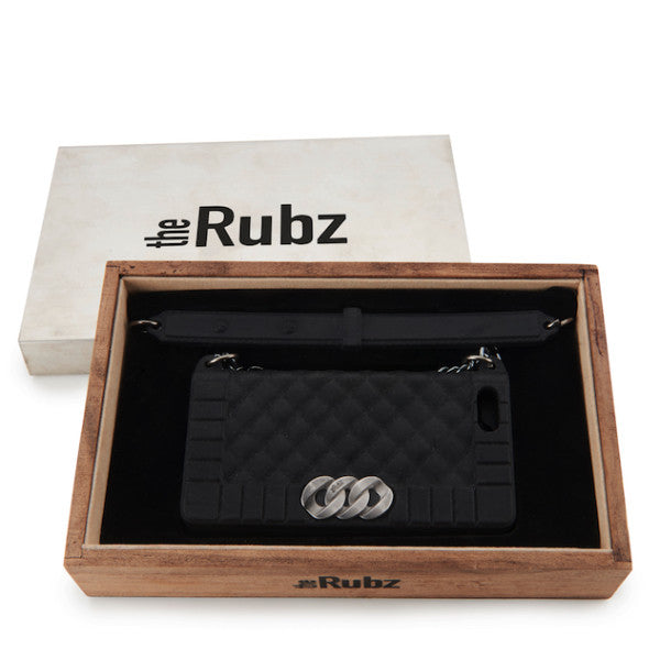 Iphone Cover - Black Silicone / Antique Silver, The Rubz
