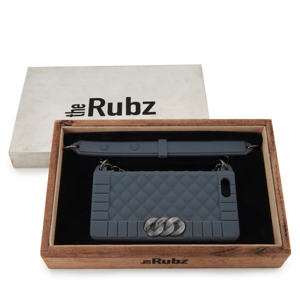 Iphone Cover - Grey Silicone / Antique Silver, The Rubz