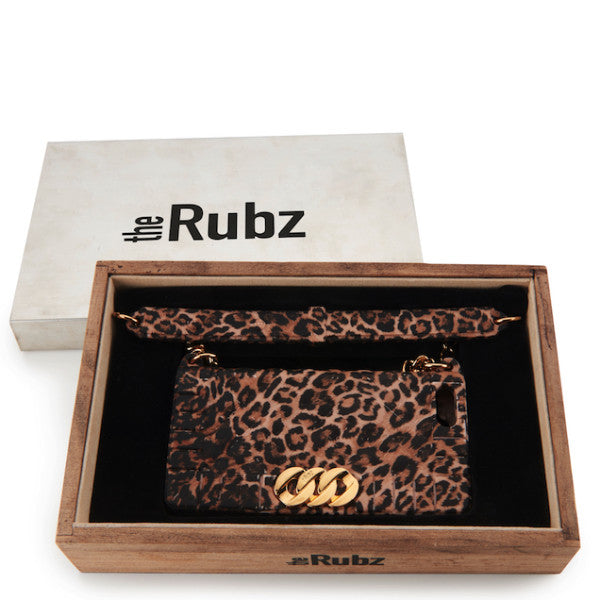 Iphone Cover - Leopard Silicone / Gold, The Rubz