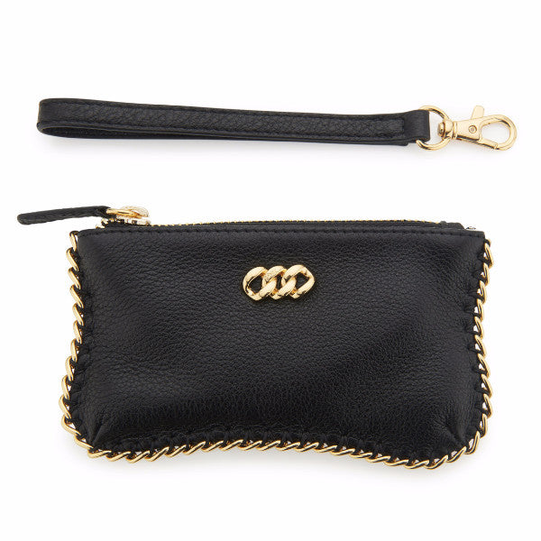 Leather Purse - Black & Gold, The Rubz