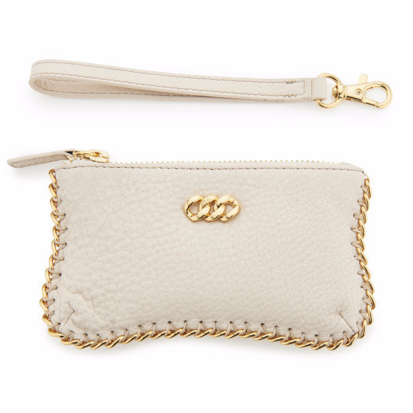 Desert Sand & Gold Leather purse, The Rubz