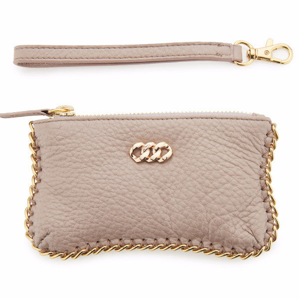 Rose & Rose Gold Leather Purse, The Rubz