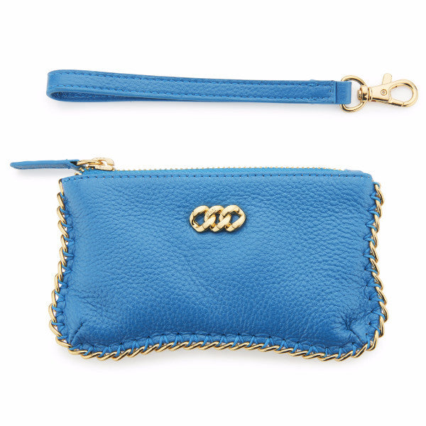 Leather Purse - Turqoise & Gold, The Rubz