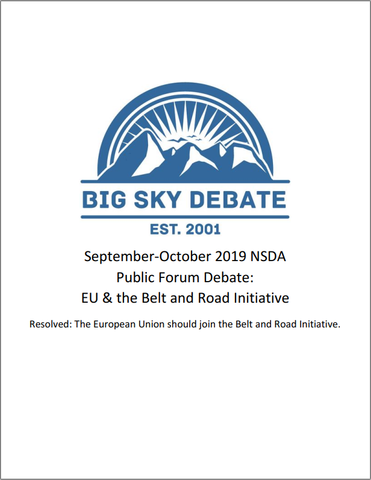 September-October 2019 NSDA Public Forum: EU & the Belt and Road Initiative