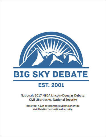 2017 NSDA Nationals Lincoln-Douglas: Civil Liberties vs. National Security
