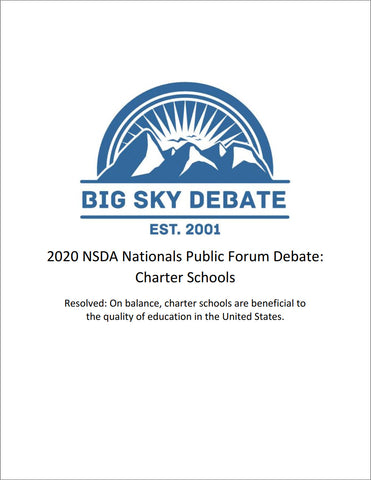 2020 NSDA Nationals Public Forum: Charter Schools
