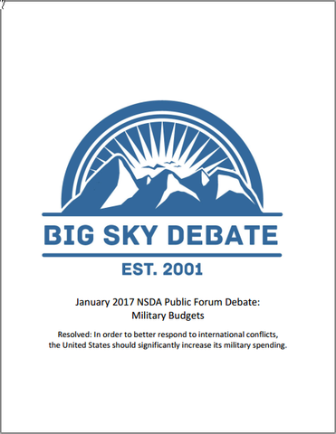 January 2017 NSDA Public Forum: Military Spending