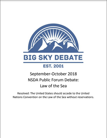 September-October 2018 NSDA Public Forum: Law of the Sea