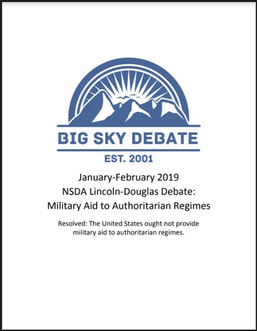 January-February 2019 NSDA Lincoln-Douglas: Military Aid