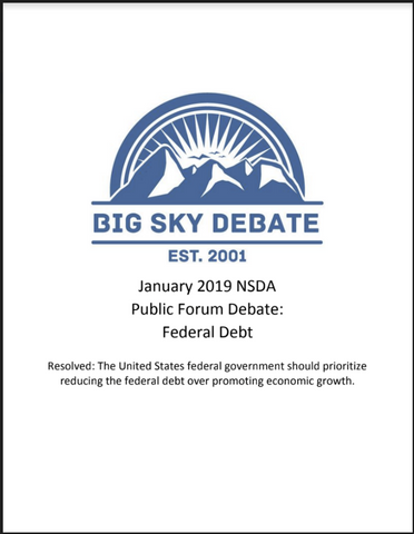 January 2019 NSDA Public Forum: Federal Debt