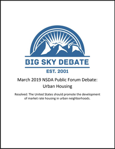 March 2019 NSDA Public Forum: Urban Housing