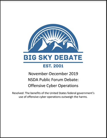 November-December 2019 NSDA Public Forum: Cyber Offensives