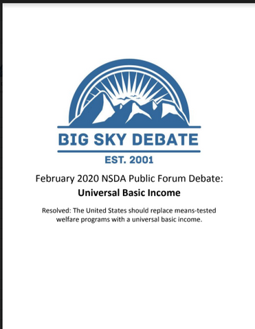 February 2020 NSDA Public Forum: Universal Basic Income