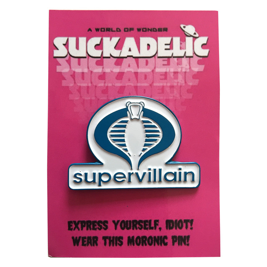 SUPERVILLAIN Enamel Pin