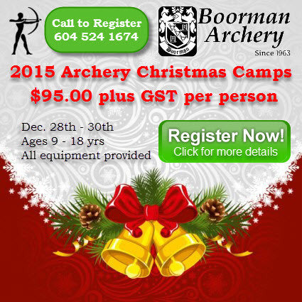 2015 Archery Christmas Camps