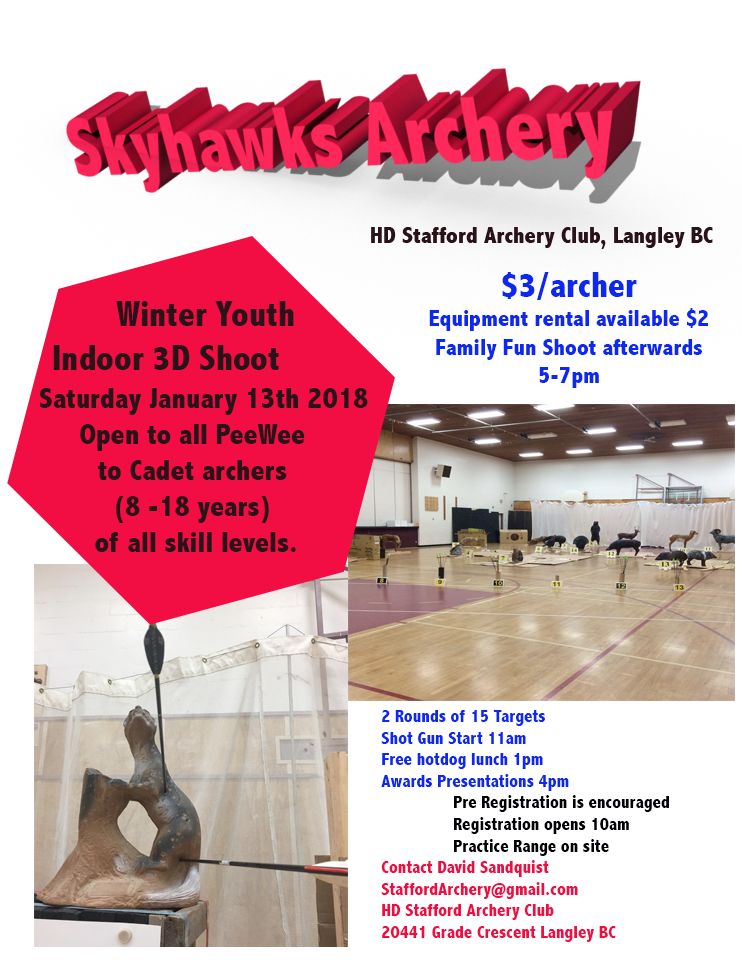 Winter Youth 3D Indoor Archery Shoot
