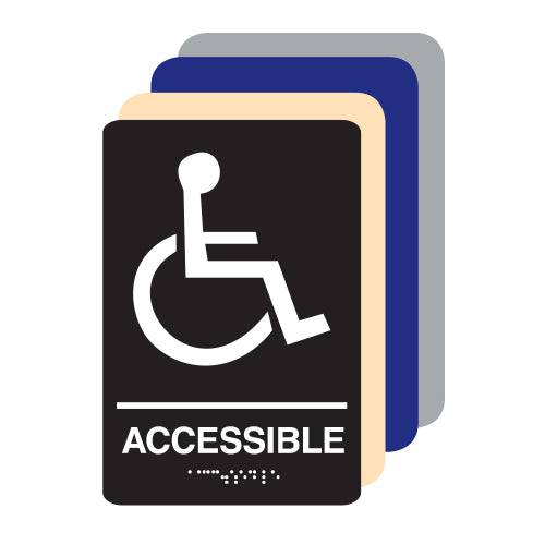 Accessible ADA Restroom Sign