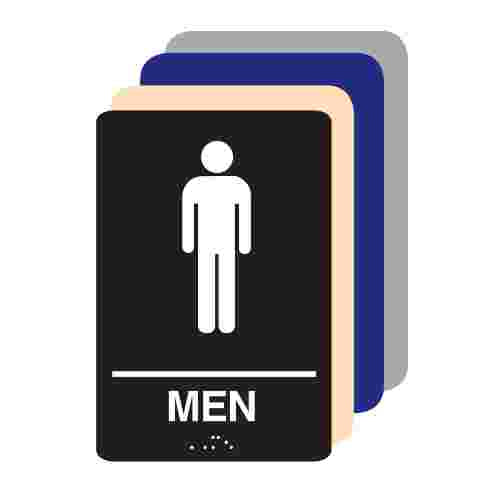 Men ADA Restroom Sign