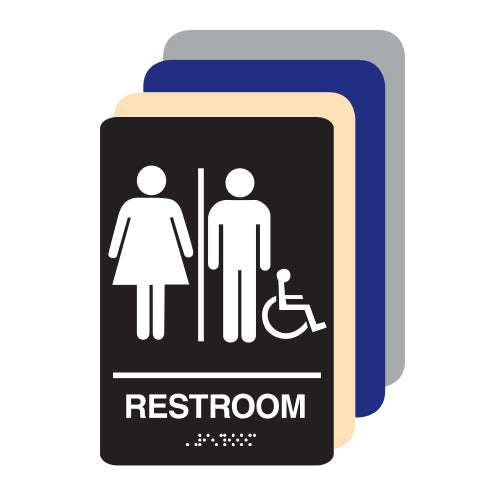 Unisex Accessible ADA Restroom Sign