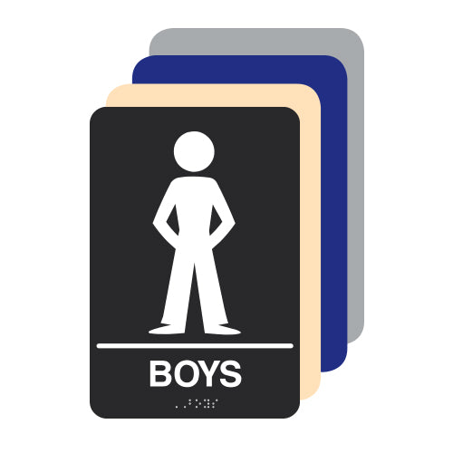 Boys ADA Restroom Sign