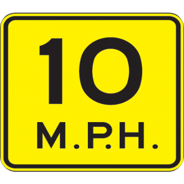 10 Mph Speed Advisory Sign - U.S. Signs and Safety
