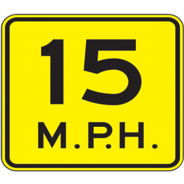 15 Mph Speed Advisory Sign - U.S. Signs and Safety