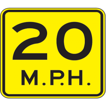 20 Mph Speed Advisory Sign - U.S. Signs and Safety