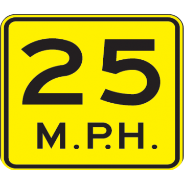 25 Mph Speed Advisory Sign - U.S. Signs and Safety