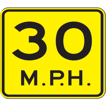30 Mph Speed Advisory Sign - U.S. Signs and Safety