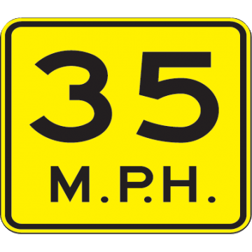 35 Mph Speed Advisory Sign - U.S. Signs and Safety