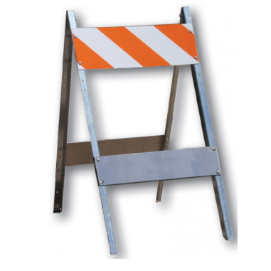 Metal Barricade - U.S. Signs and Safety - 1