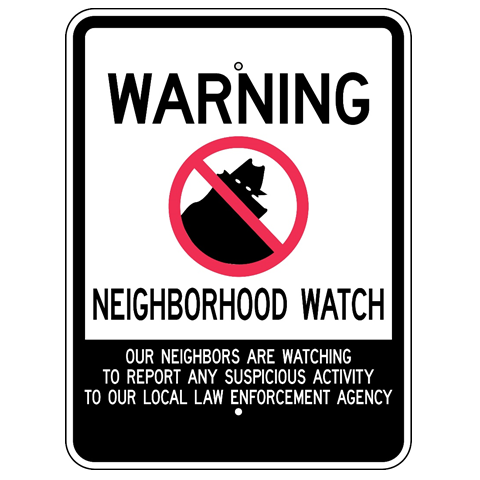 Warning Neighborhood Crime Watch Sign - U.S. Signs and Safety