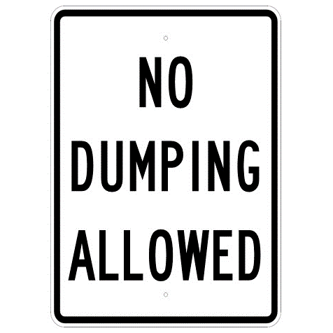 No Dumping Allowed Sign - U.S. Signs and Safety