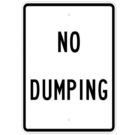 No Dumping Sign - U.S. Signs and Safety