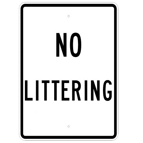 No Littering Sign - U.S. Signs and Safety