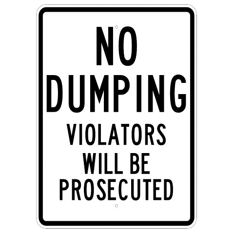 No Dumping Violators Will Be Prosecuted Sign - U.S. Signs and Safety