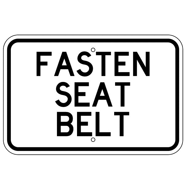Fasten Seat Belt Horizontal Sign - U.S. Signs and Safety