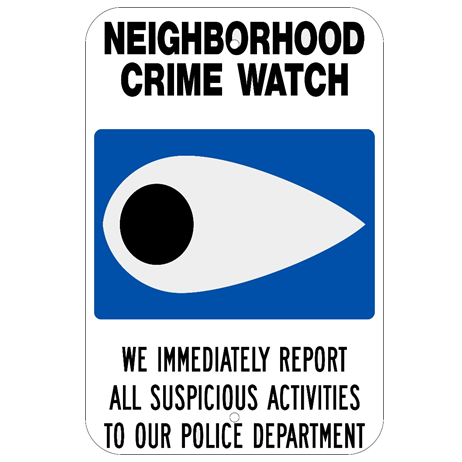 Neighborhood Crime Watch Sign - U.S. Signs and Safety