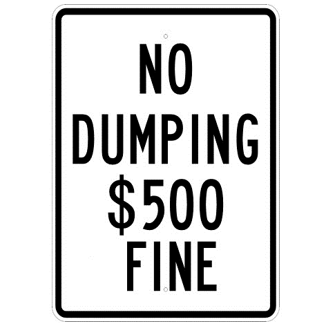 No Dumping $ Fine Sign - U.S. Signs and Safety