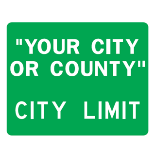 City Limit Sign - U.S. Signs and Safety