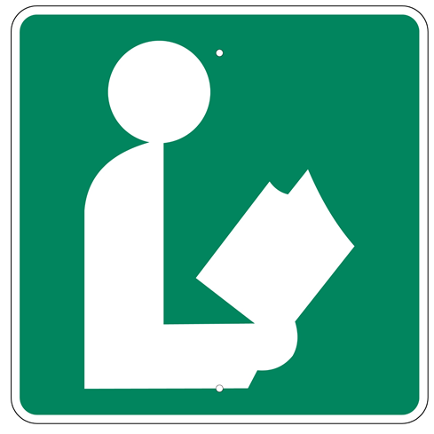 Library Symbol Sign - U.S. Signs and Safety